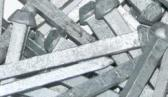 Hardened, galvanized and zinc coated steel nails