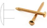 Round head copper nail
