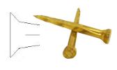 Cone head brass nails