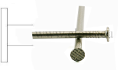 Flat head stainless steel nail