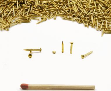 Round head brass nail Ø 1.3 mm L : 12 mm - Ø 1.3 mm