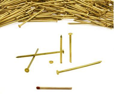 Flat head brass nail Ø 2.4 mm