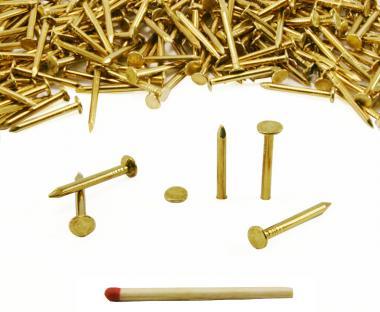 Flat head brass nail Ø 2.7 mm