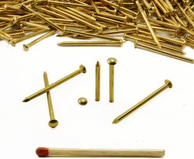 Round head brass nail Ø 2.2 mm L : 40 mm - Ø 2.2 mm