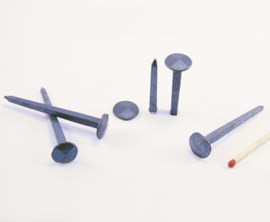 Diamond shaped head blued steel forged nail (100 nails) L : 50 mm - Ø 10 mm