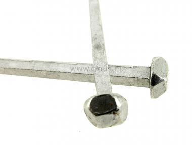 Carvelle acier poli tête diamant (100 clous)
