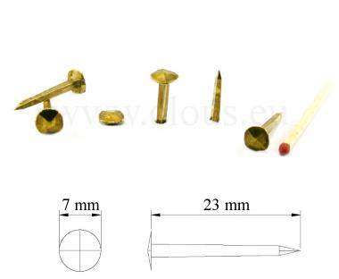 Brass forged nail (100 nails)