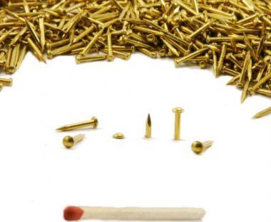 Round head brass nail Ø 1.1 mm L : 10 mm - Ø 1.1 mm