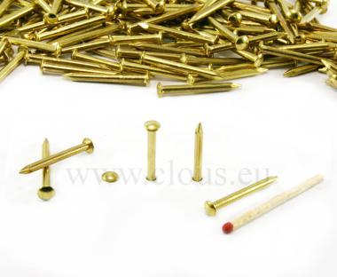 Round head brass nail Ø 2.7 mm