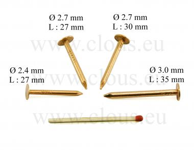 Large flat head copper nail Ø 2.4 mm