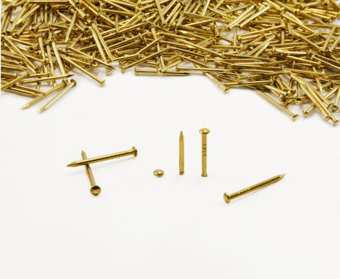 Round head brass nail Ø 1.3 mm
