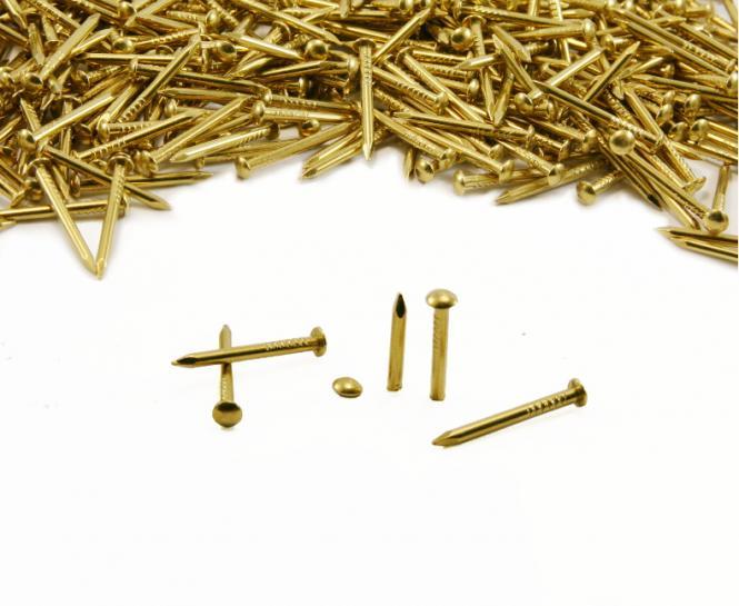 Round head brass nail