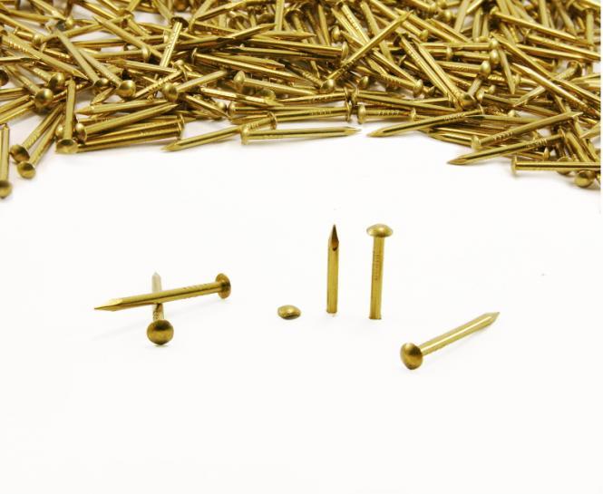 Round head brass nail Ø 1.5 mm