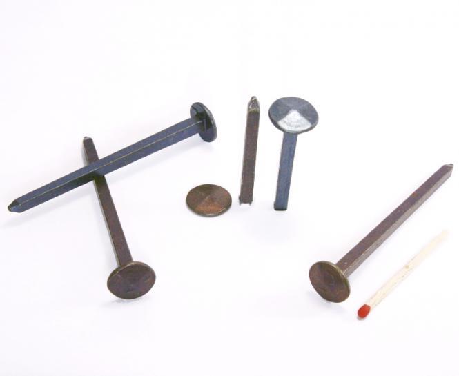 Diamond shaped head blued steel forged nail (100 nails) L : 60 mm - Ø 12 mm