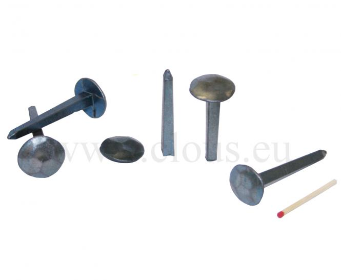 Extra large hammered head blued steel forged nail (25 nails)