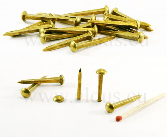 Dome head brass nail L : 27 mm