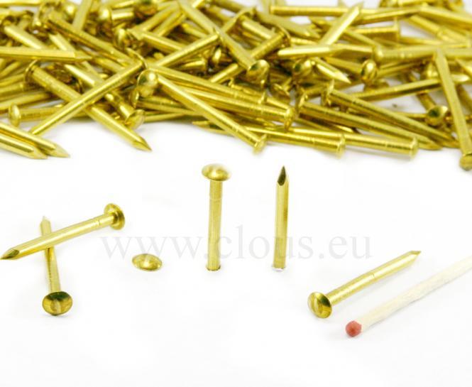 Round head brass nail Ø 3.0 mm
