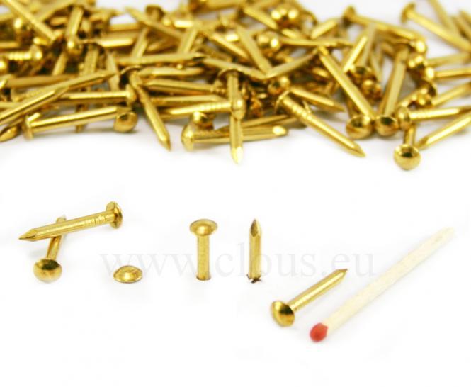 Round head brass nail Ø 2.4 mm