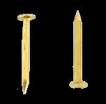 Flat head miniature brass nail L : 7 mm - Ø 0.7 mm